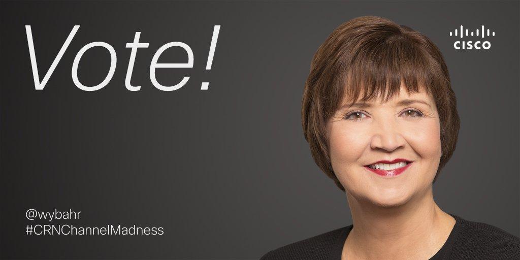 Vote Cisco's Wendy Bahr (@wybahr) for this year's #CRNChannelMadness Chief! https://t.co/wTIDFc32qv https://t.co/PB9PULemlh