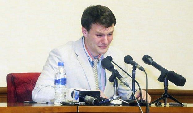 Otto Frederick Warmbier, condannato a 15 anni di lavori forzati in Corea del Nord