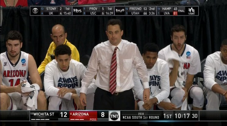 Sooooooo... Sean Miller is kinda sweaty. https://t.co/D6aEdsnjFR