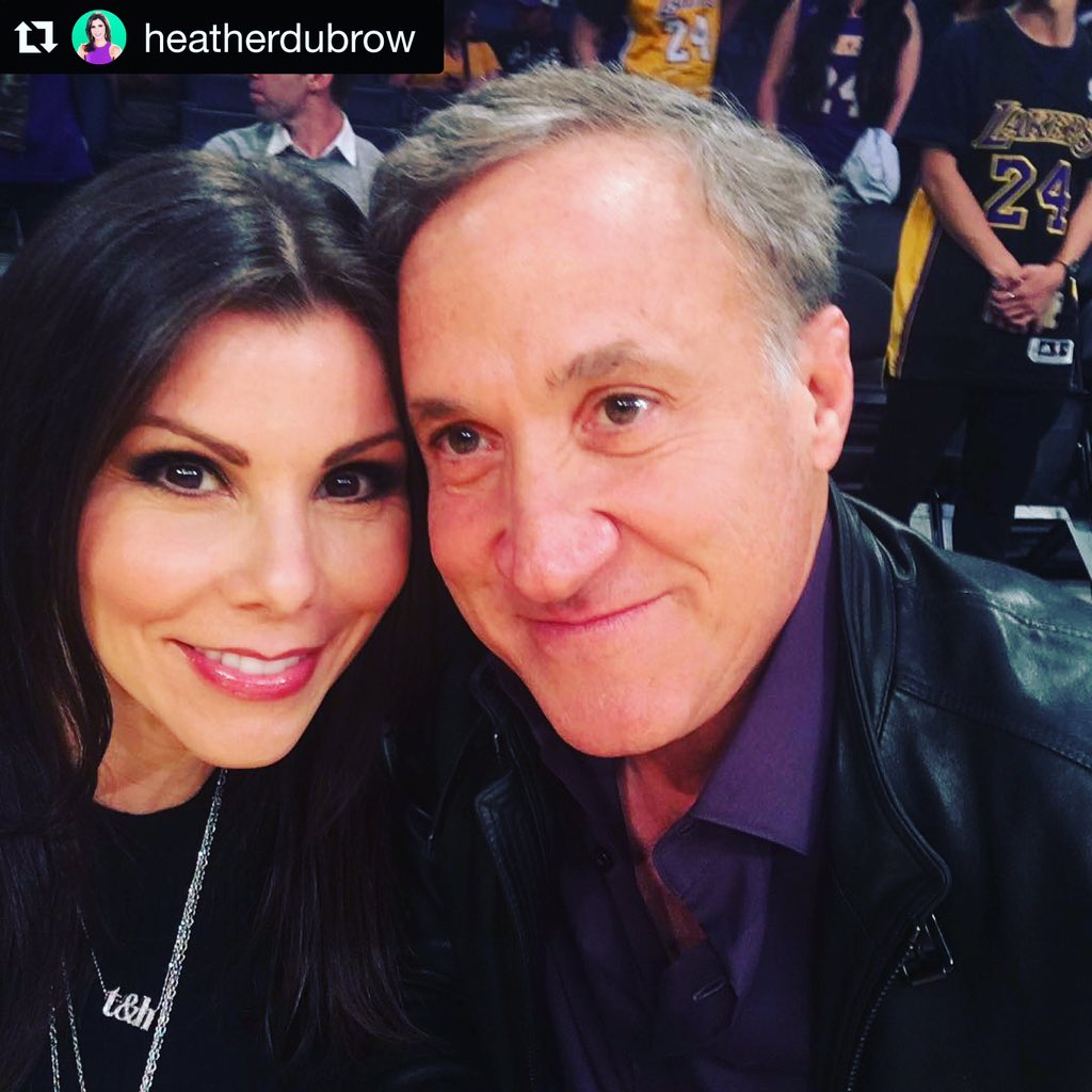 Alex Woo Jewelry On Twitter This Woospotting Of Heatherdubrow Rocking Her T H Necklace At The Lakers Vs Knicks Game W Hubby Drdubrow