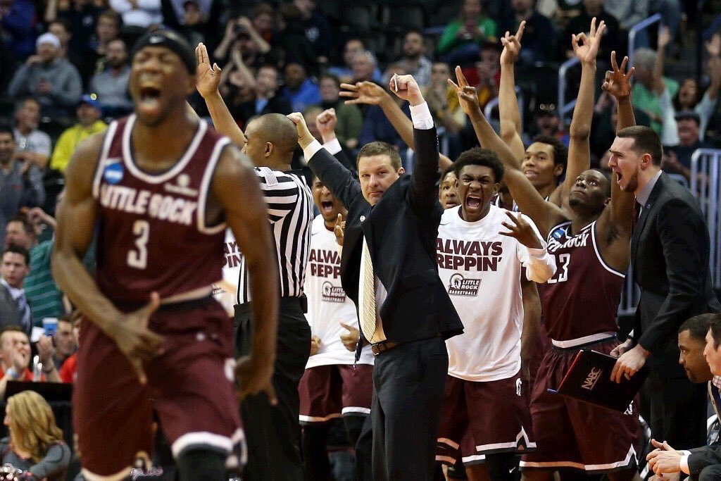 This pic says it all.  #UALR #LittleRocksTeam #MarchMadness @LittleRockMBB #JoshHagins https://t.co/Ff8YV3kPk5