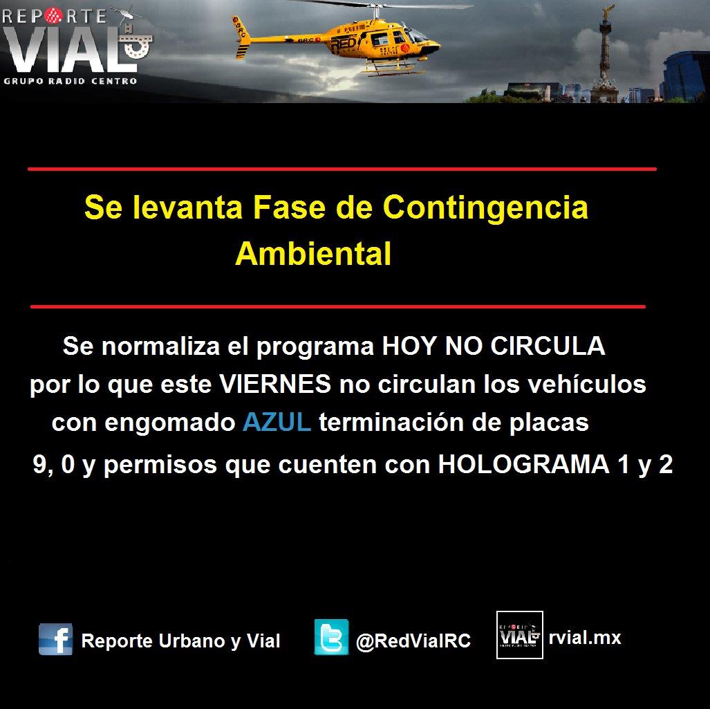 Se levanta Fase I de Contingencia Ambiental, se normaliza el programa #HoyNoCircula https://t.co/CGREb0wmzW