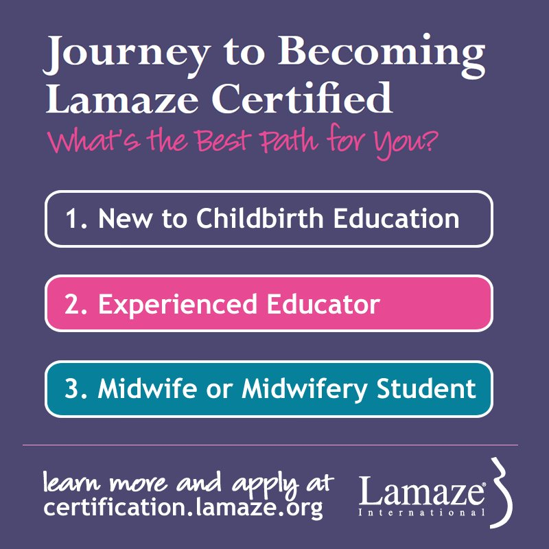 Interested in a career as a childbirth educator? We're chatting about it in just a few minutes. Join us! #LamazeChat https://t.co/Y4cFLKOOGg