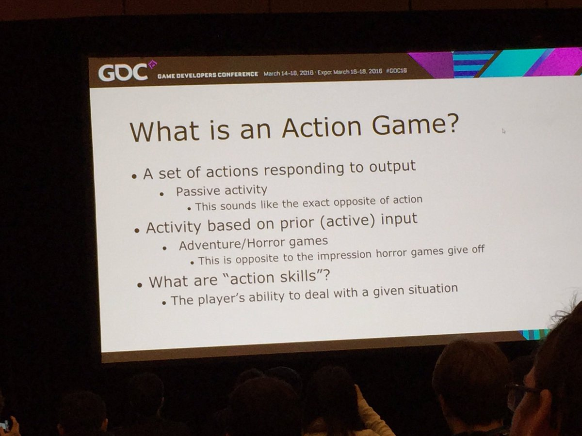 A few slides explaining how @platinumgames' Atsushi Inaba thinks about the design of action games from #GDC16: https://t.co/vICblUoevM
