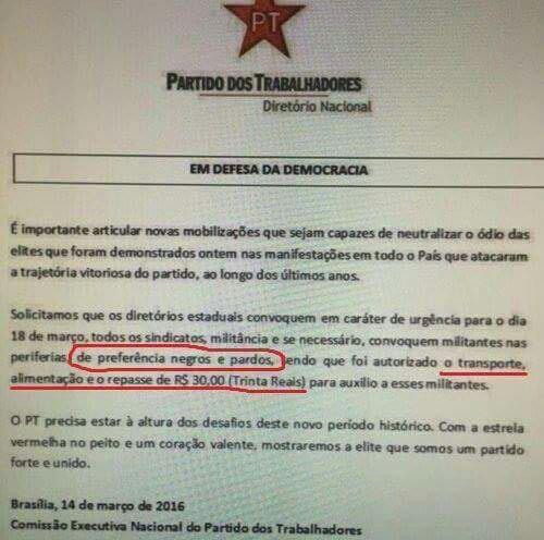 Mas o que é isso? Pagando para participar para apoiar Dilma e Lula? https://t.co/f8mA2dTGEh