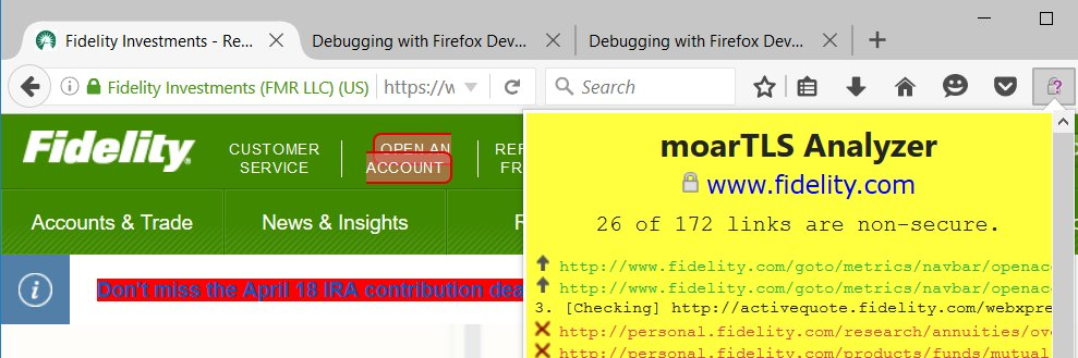 Firefox with moarTLS