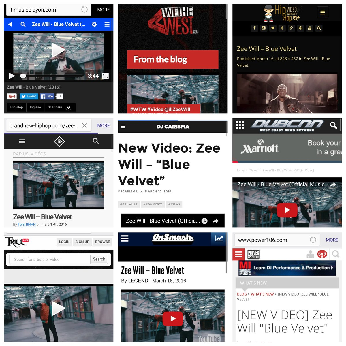 S/O to Everyone Supporting the @illZeeWill - Blue Velvet Video so far. #Salute  @GhostedThunder @zenzanbeats https://t.co/mJdrbgX6kc