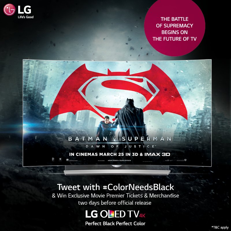 BatfansVSuperfans! Battle it out & decide! Participate in #ColorNeedsBlack #contest & get a chance 2 win MoviePasses https://t.co/1qECR70EnS