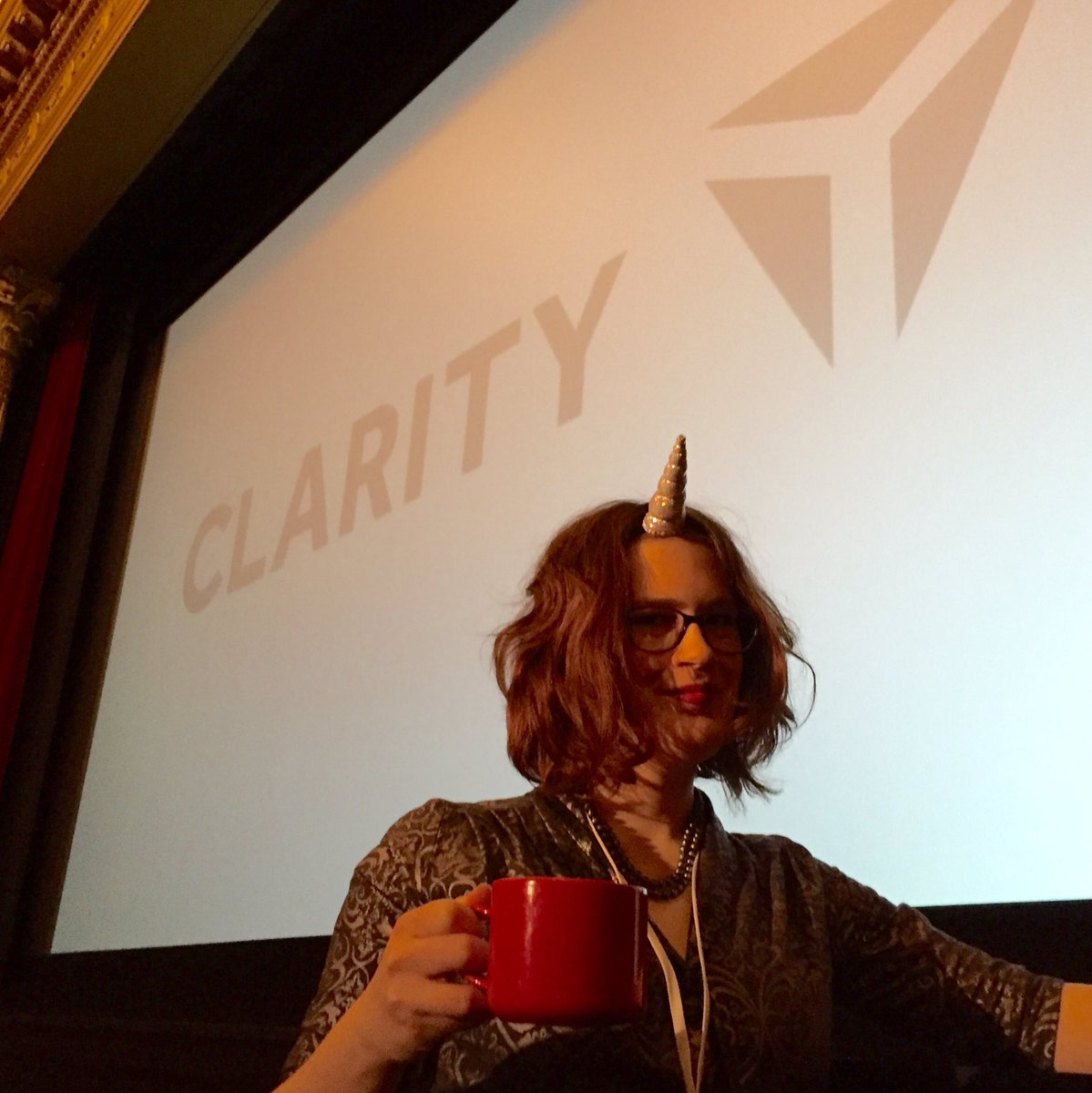 The rare animation unicorn sighting! @rachelnabors @clarity_conf #animateallthethings https://t.co/6DuwAc3TOT