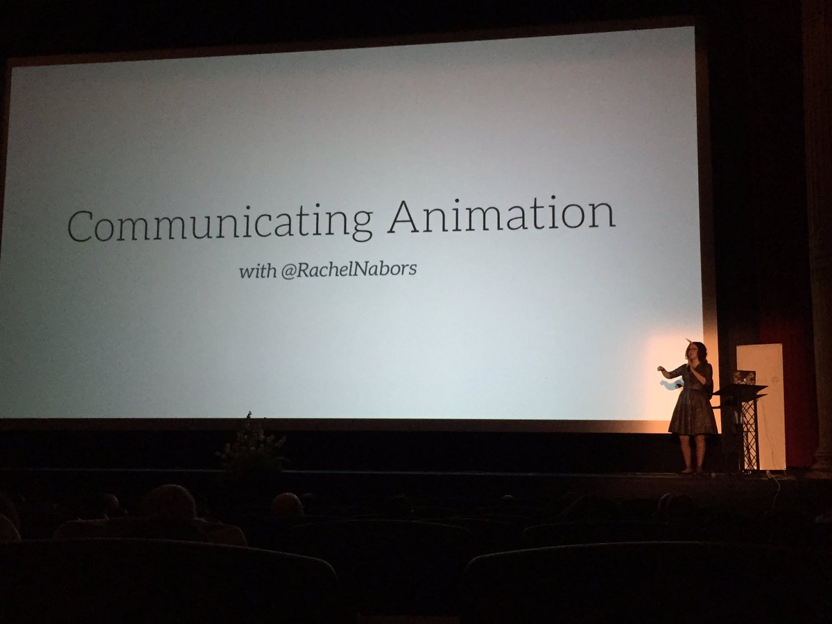 .@rachelnabors kicking off Day 2 of #clarity2016 with Communicating Animation. https://t.co/SH5qTdHbj3