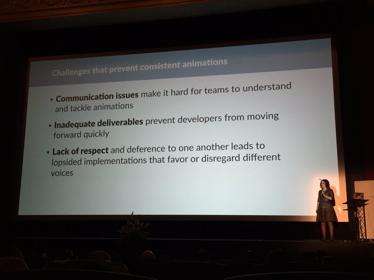 """Keep animation consistent with your product. It's a physical system of laws."" @rachelnabors #clarity2016 https://t.co/NJkTJny5CW"