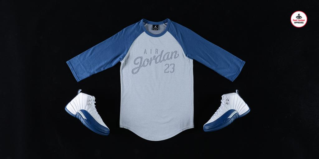 af0af00ff78577 the jordan french blue collection new script raglan available in stores and  online