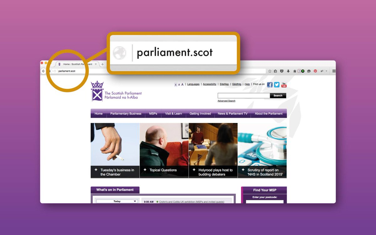 Scottish Parliament Switching Over To .Scot https://t.co/SKD10JBGXe https://t.co/s4tYSFqi4e