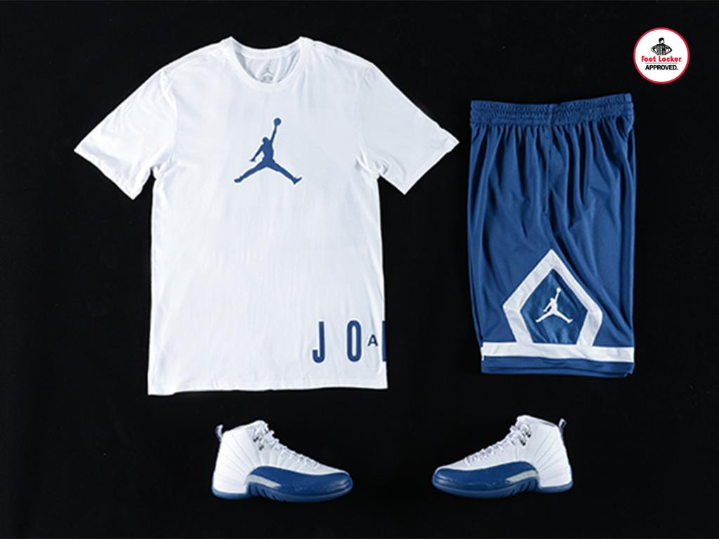 723c83bfbb8182 the jordan french blue collection jumpman placement tee x diamond shorts  available in stores