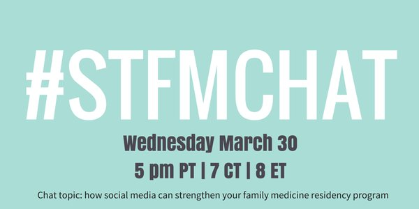 We'll see you all tonight! #STFMChat #meded #FMRevolution https://t.co/mhs3l5rnyL