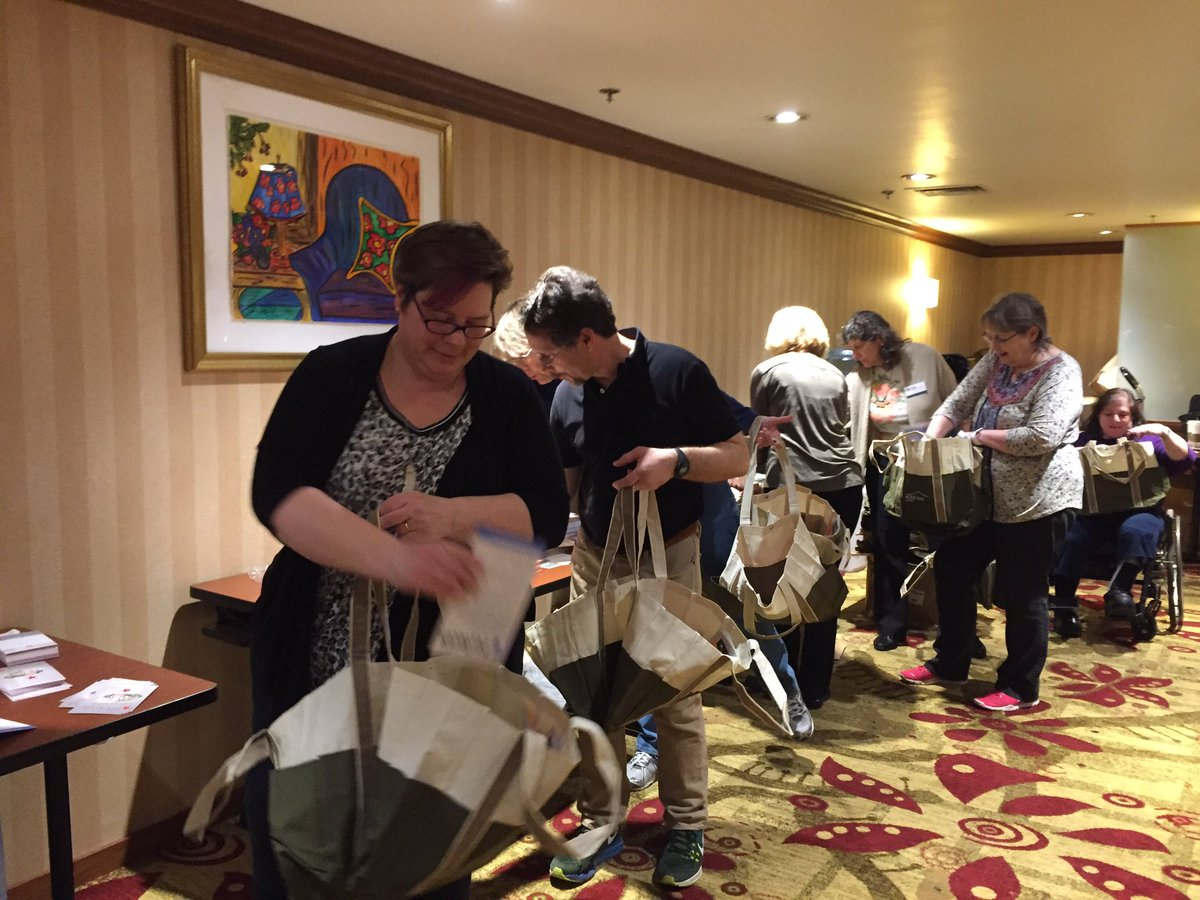 Volunteers make #ACES2016 work. Bag stuffing line. https://t.co/YuEPabOBlW