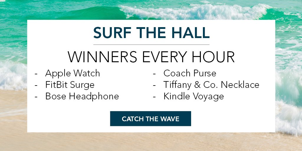 "Don't forget to ""Surf the Hall"" at #AORN2016 for a chance to win hourly prizes! Learn more: https://t.co/j5Qp5Fxy5F https://t.co/Ma7lvSa1vf"