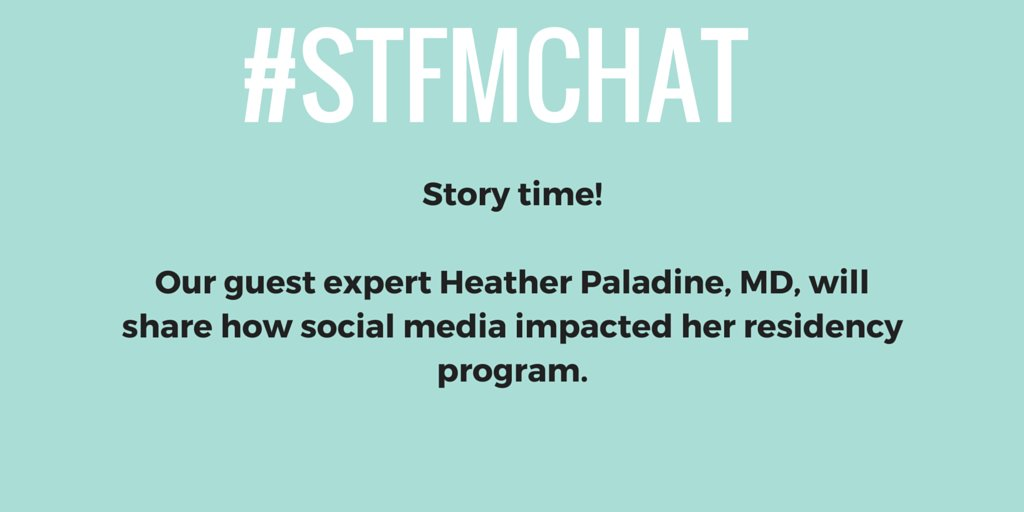 Hello everyone! Thanks for joining us tonight on #STFMchat! We're going to first hear from @paladineh. https://t.co/G7xI3jtGvy