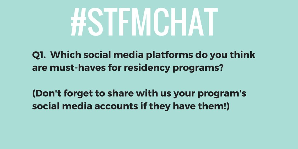 So let's kick off tonight's #stfmchat with Q1: https://t.co/wqe1iCGC7U