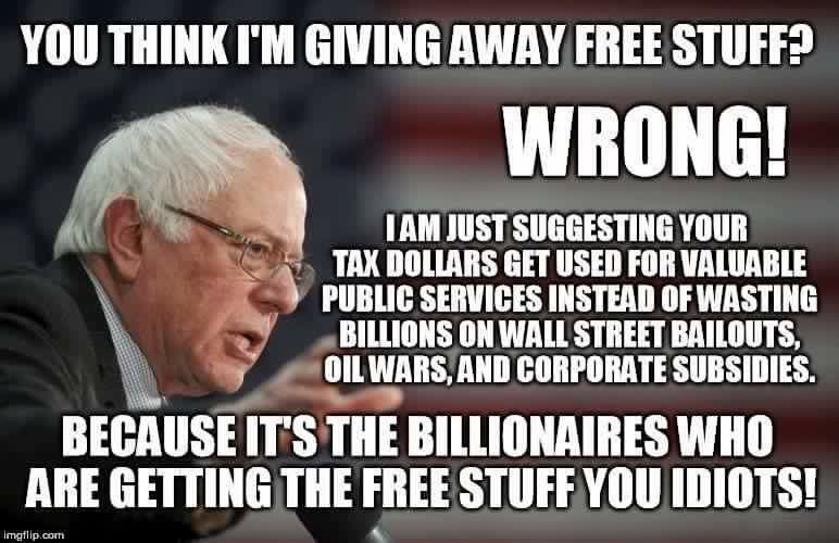 When everyone thinks war and corporate welfare are ok but godforbid u ask for education #SignsYoureABernieSupporter https://t.co/L8cj7ABOGc