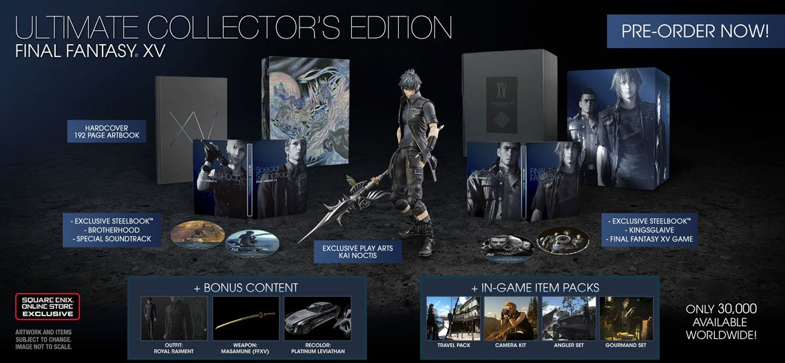 Square Enix May Increase Production For Final Fantasy XV's Collector's Edition 1
