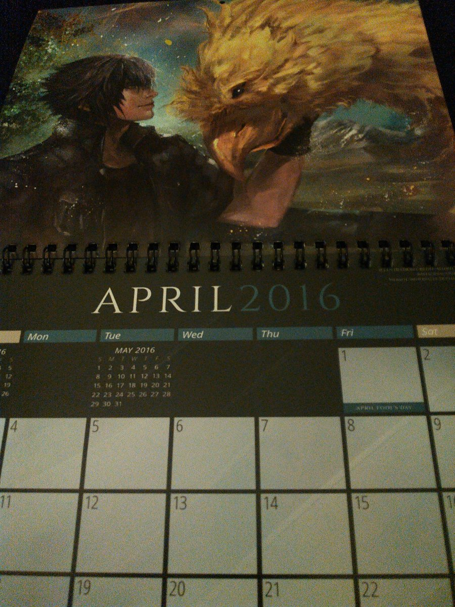 Robert On Twitter Final Fantasy Xv Calendar That Was Given