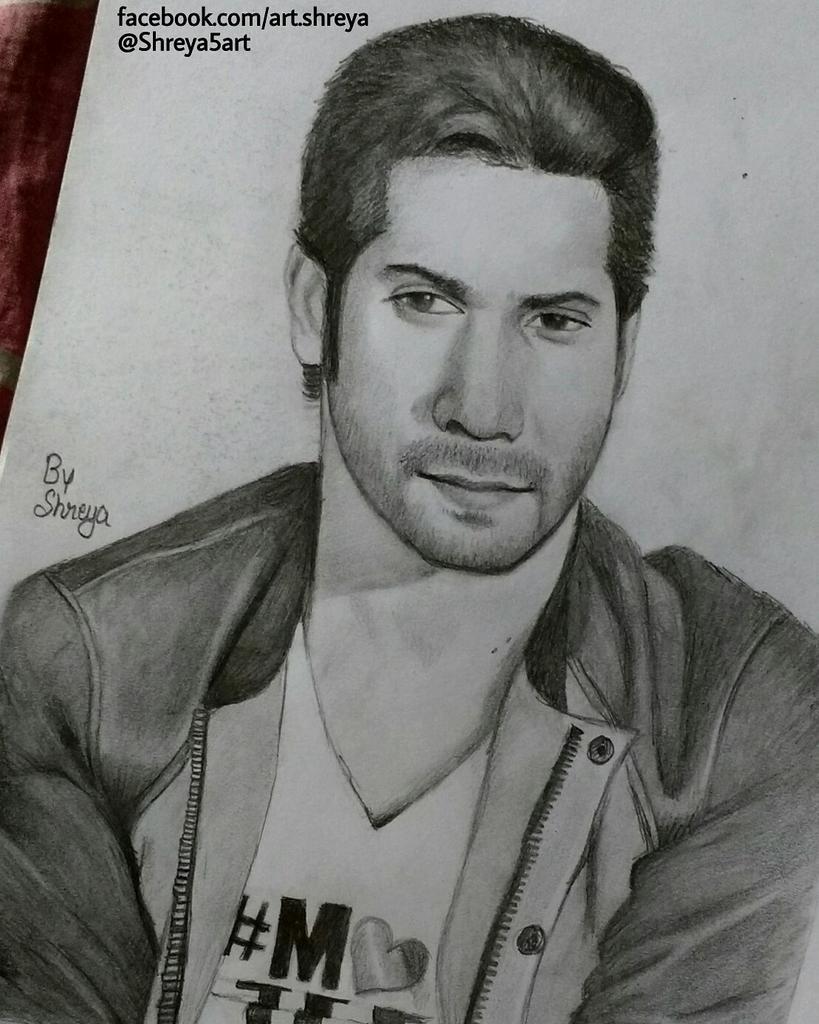 Shreya On Twitter U0026quot;#pencil #sketch Of @Varun_dvn Made By Me.. #art #dishoom #varun #varundhawan ...