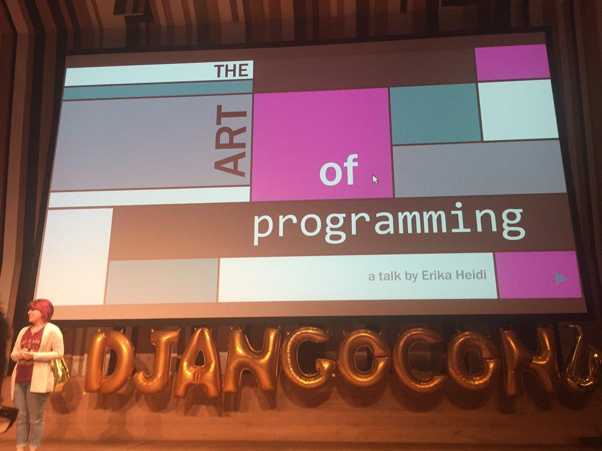 Wow! @erikaheidi's opening slide 🎷#djangocon https://t.co/jHrwp1dTs0