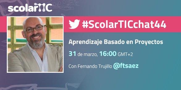 ¿Cómo trabajar con #ABP? Participa en el debate #ScolarTICchat44 con @ftsaez hoy a las 16:00 https://t.co/VGymZAzFge https://t.co/TzTIP9KctI