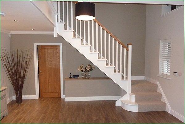 Pear stairs on twitter scatterdells lane cut string for Quarter landing staircase