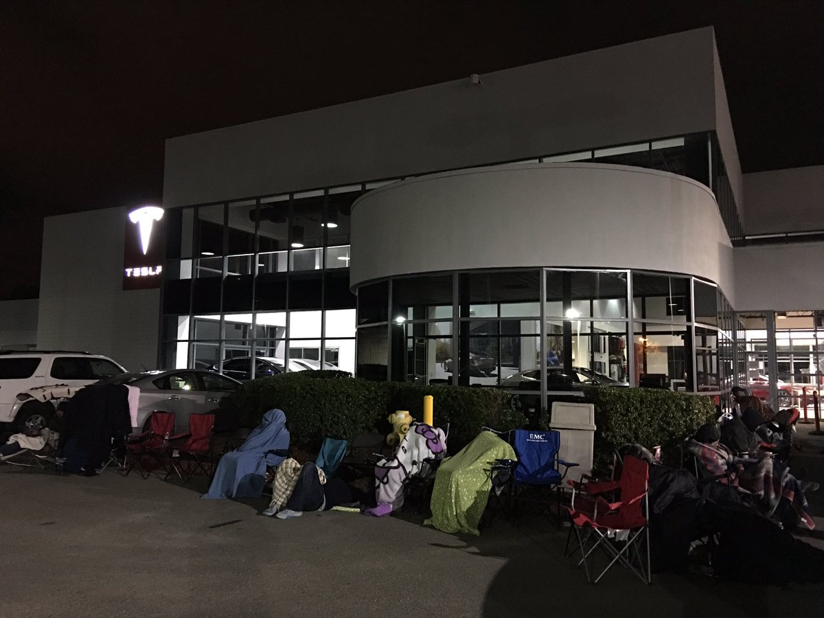 Damn 50 people are in line to buy a car no one has seen. Congrats @elonmusk and team on what looks to be a success! https://t.co/YvsG9ax6mF