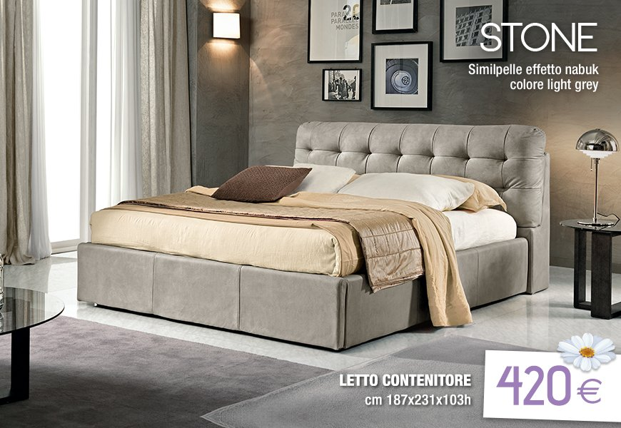 Letto stone mondo convenienza canonseverywhere for Letto sommier mondo convenienza
