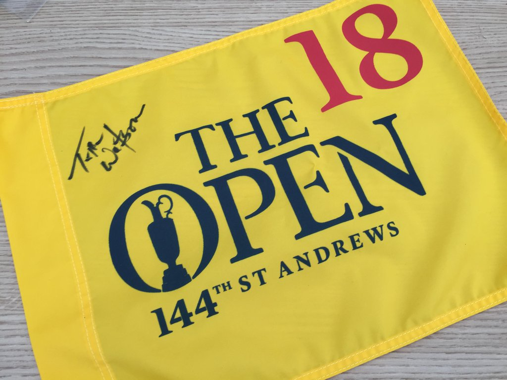 To thank our 300K Twitter followers we are giving away this Tom Watson signed pin flag. Simply RT to win! https://t.co/82plgh43C0