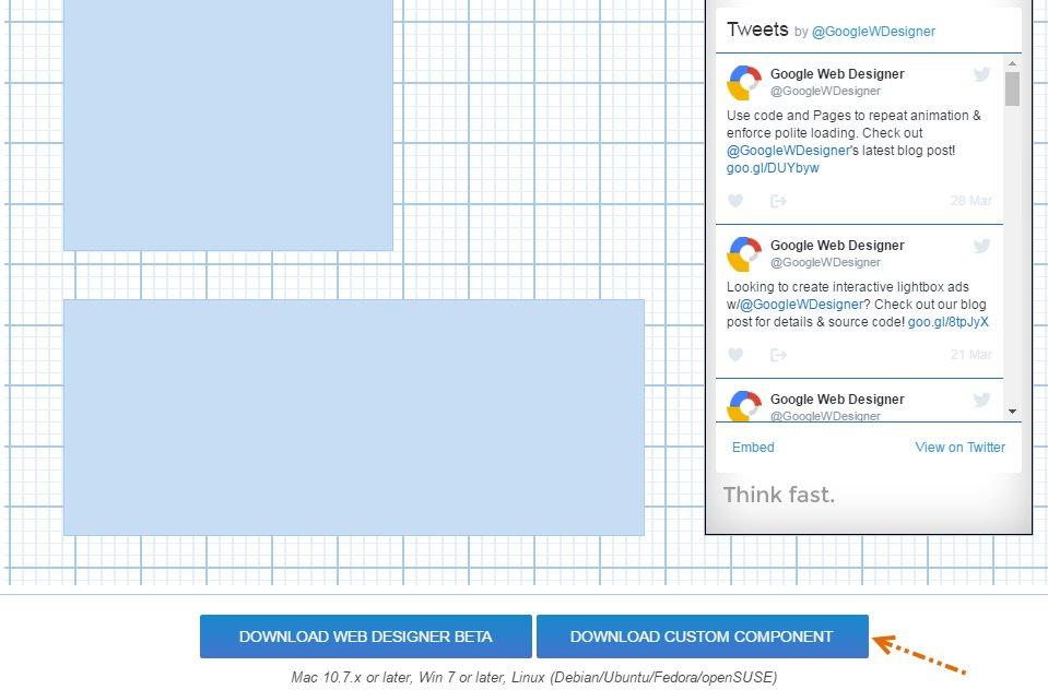 google web designer animation on click