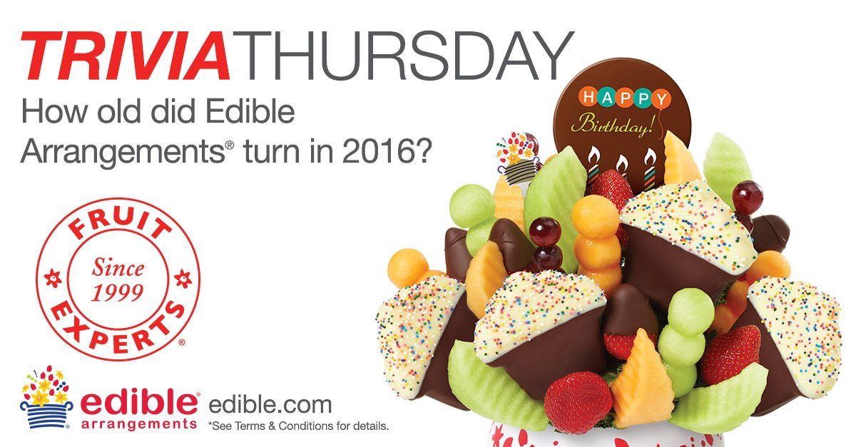 Happy Trivia Thursday! Tweet us the answer & you could win a box of Dipped Fruit™. Hint: https://t.co/G431C7JnWq https://t.co/glTnQlGXCg