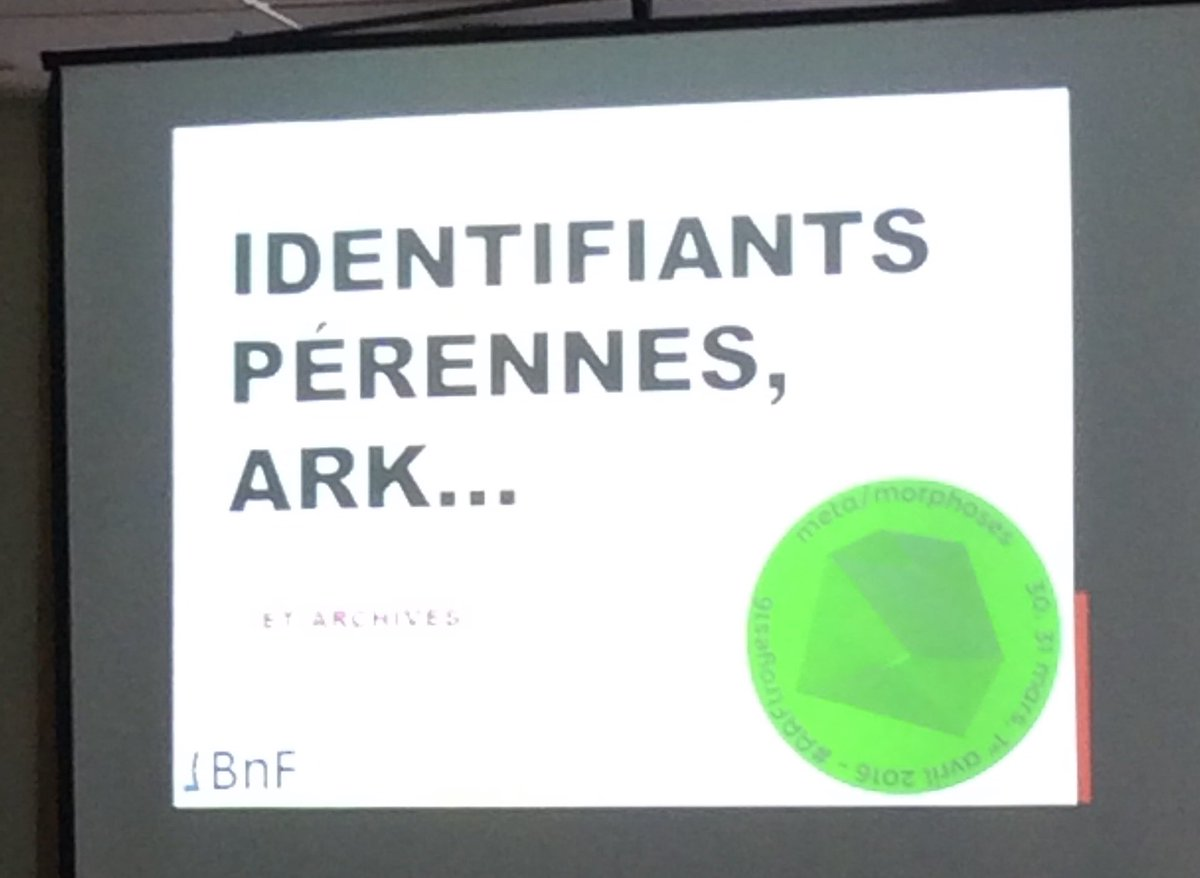 L'atelier Mécano sur les identifiants ARK va commencer salle B. De Clairvaux ! #AAFtroyes16 #clairvaux https://t.co/bleWFttkHw