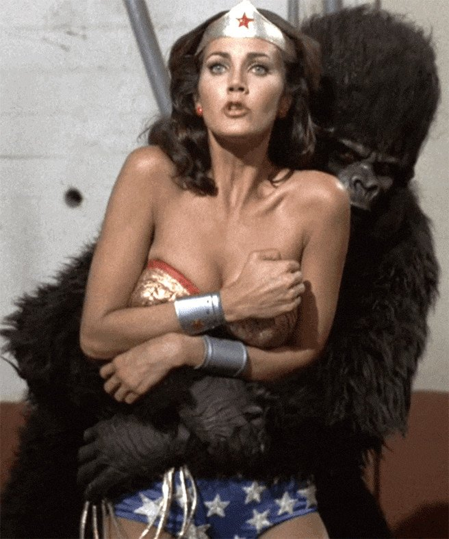 "Lynda Carter On Twitter: ""#TBT #gorilla #WonderWoman"