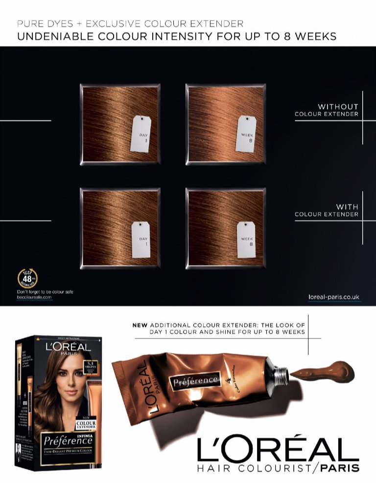 l oreal colour extender instructions