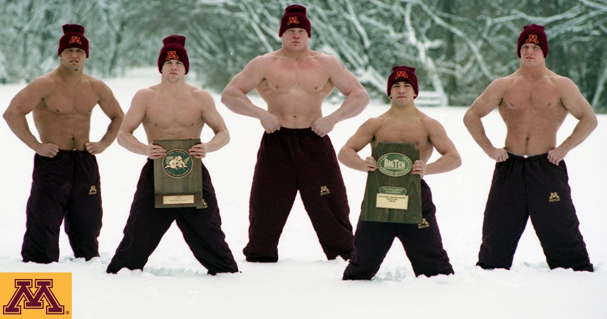 """Minnesota Wrestling on Twitter: """"After a warm winter and spring in Minnesota,  here's some snowy nostalgia looking back at our 2000 team poster #tbt  https://t.co/Ex2kTuETtI"""""""