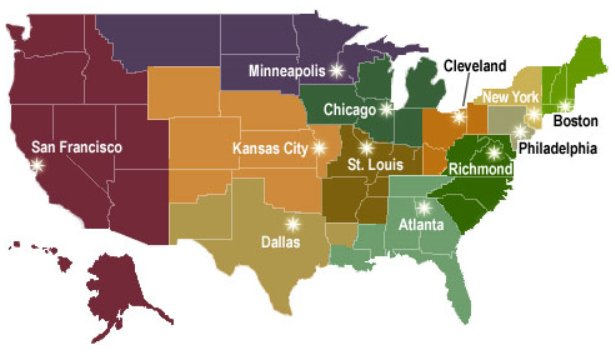 federal reserves 12 district - 615×363
