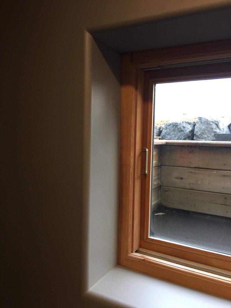 Icf guru on twitter icf window finishing option rounded for Drywall around windows
