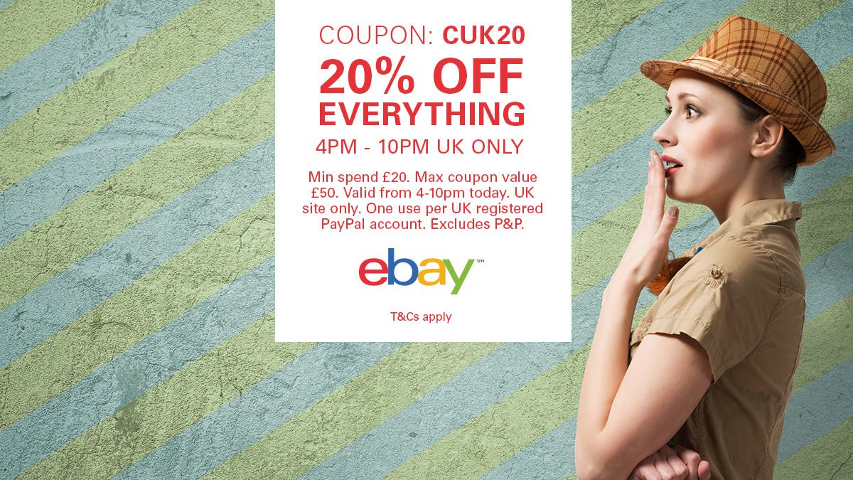 Ebay Co Uk On Twitter 20 Off Everything Our Coupon Cuk20 Is Live