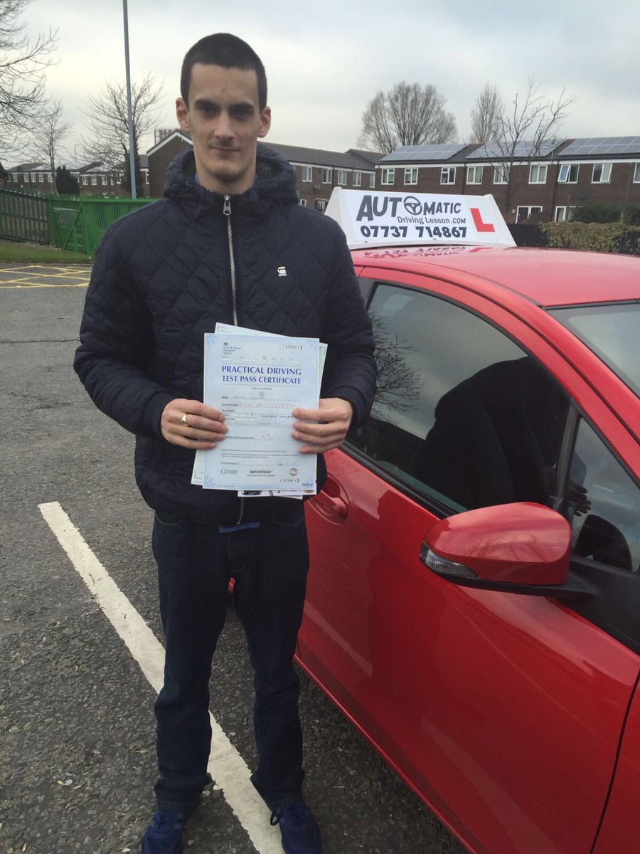 Congratulations Steven on passing first time #cheethamhilldrivingtestcentre #automaticdrivinglesson.com