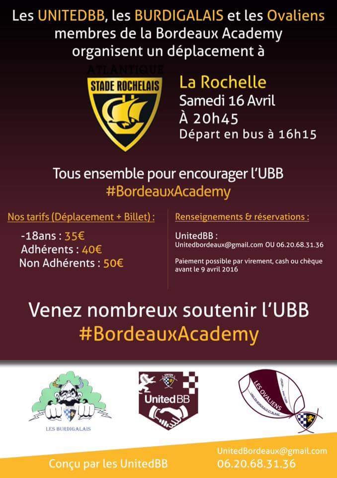 TOP14 - 21ème journée : La Rochelle / UBB Ce5834zW4AAdell