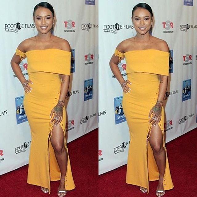 6e9218d926d ... Zeena Zaki... http   fashionbombdaily.com splurge-karrueches-a-meeting-with-the-family-premiere-zeena-zaki-golden-off-the-shoulder-midi-dress   …