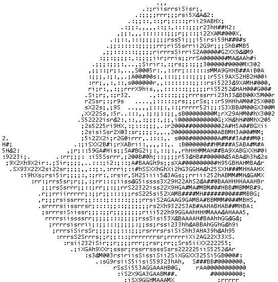 рисунки из клавиатурных символов крест самые