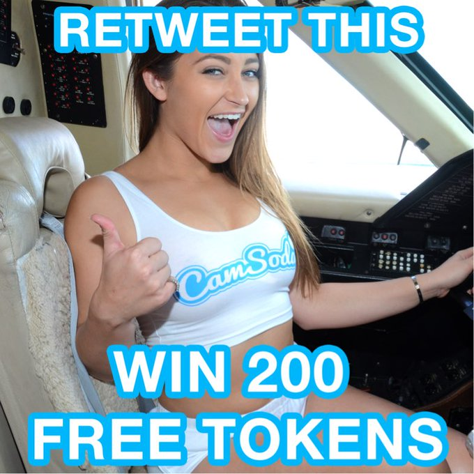 RT this for 200 free tokens and I'll choose one of you by the end of the day #contest #freetokens #camsoda