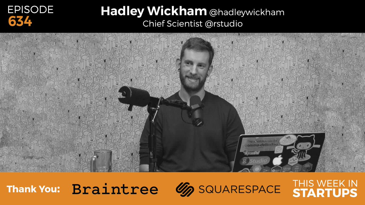 Open source pioneer & @rstudio Chief Sci. @hadleywickham on data, stats, philosophy-w/@jason https://t.co/9T2zagtYMM https://t.co/6Drh0C3s4g