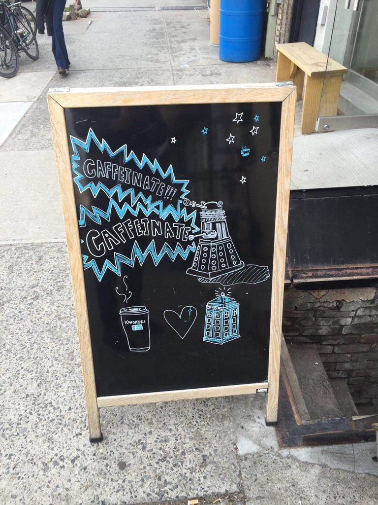 Before work I must cafffffinate #DoctorWho @konditori https://t.co/7J46BRRNsC