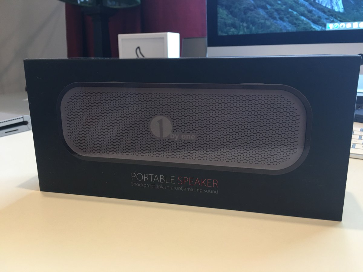 Twitter #giveaway make sure your following and RT this tweet for a chance to win this #1byone Bluetooth Speaker https://t.co/2bHh38gVOW